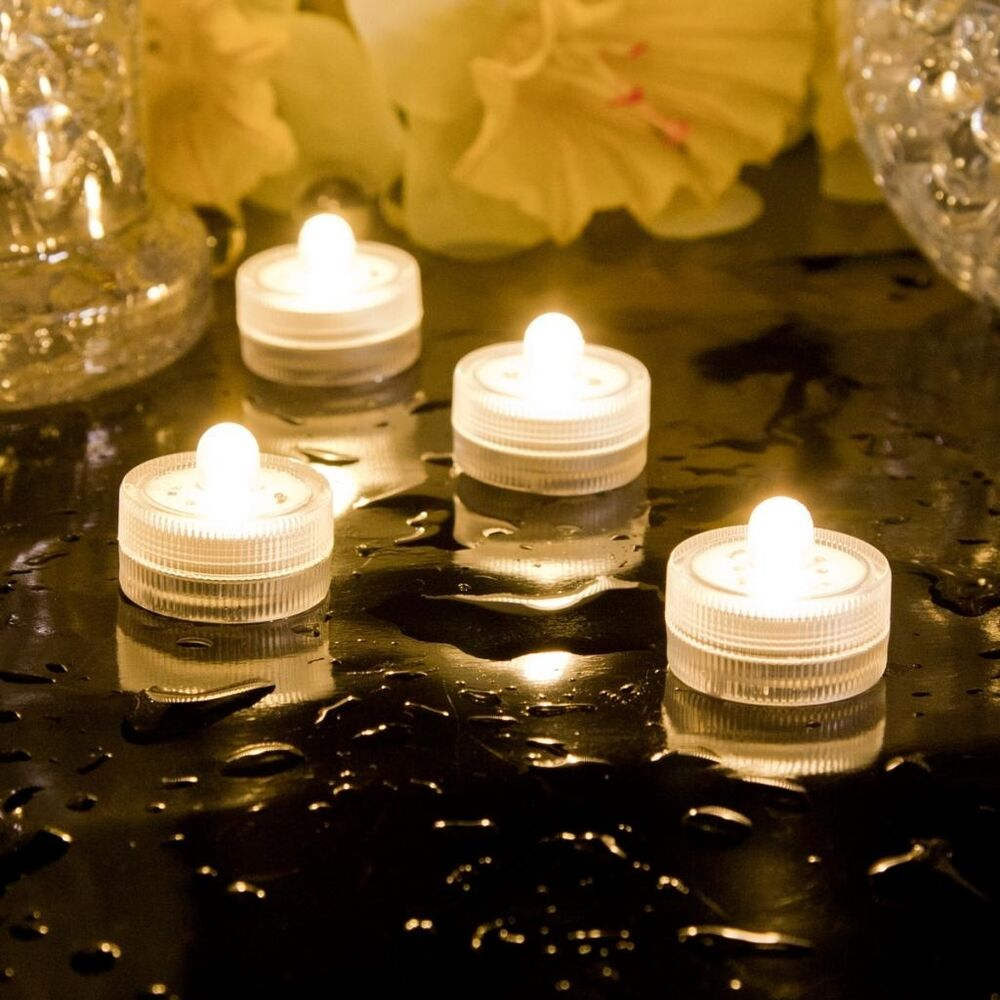 battery operated led tea lights 100 waterproof party wedding xmas. Black Bedroom Furniture Sets. Home Design Ideas