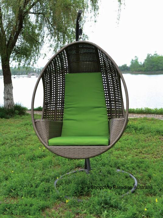 high quality hanging swing egg chair rattan in outdoor pod