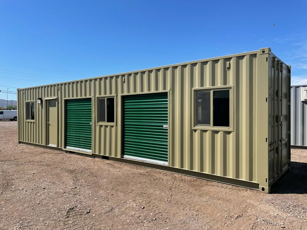Shipping Container Conex Storage Building With Roll Up Doors EBay