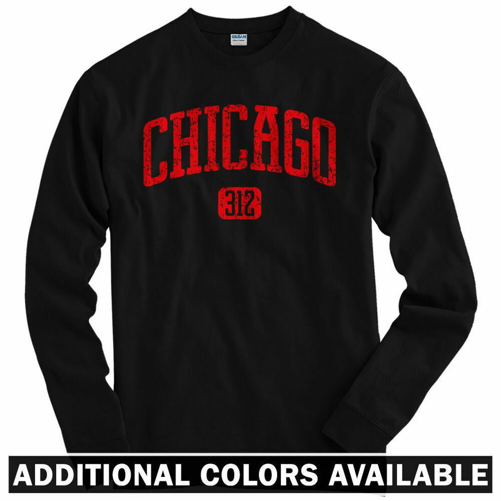 Chicago 312 long sleeve t shirt chi town windy city il Chi town t shirts