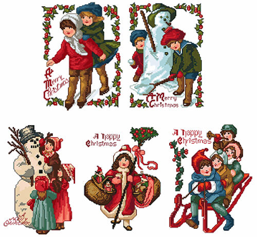 ABC Designs 5 Vintage Christmas Machine Embroidery Designs