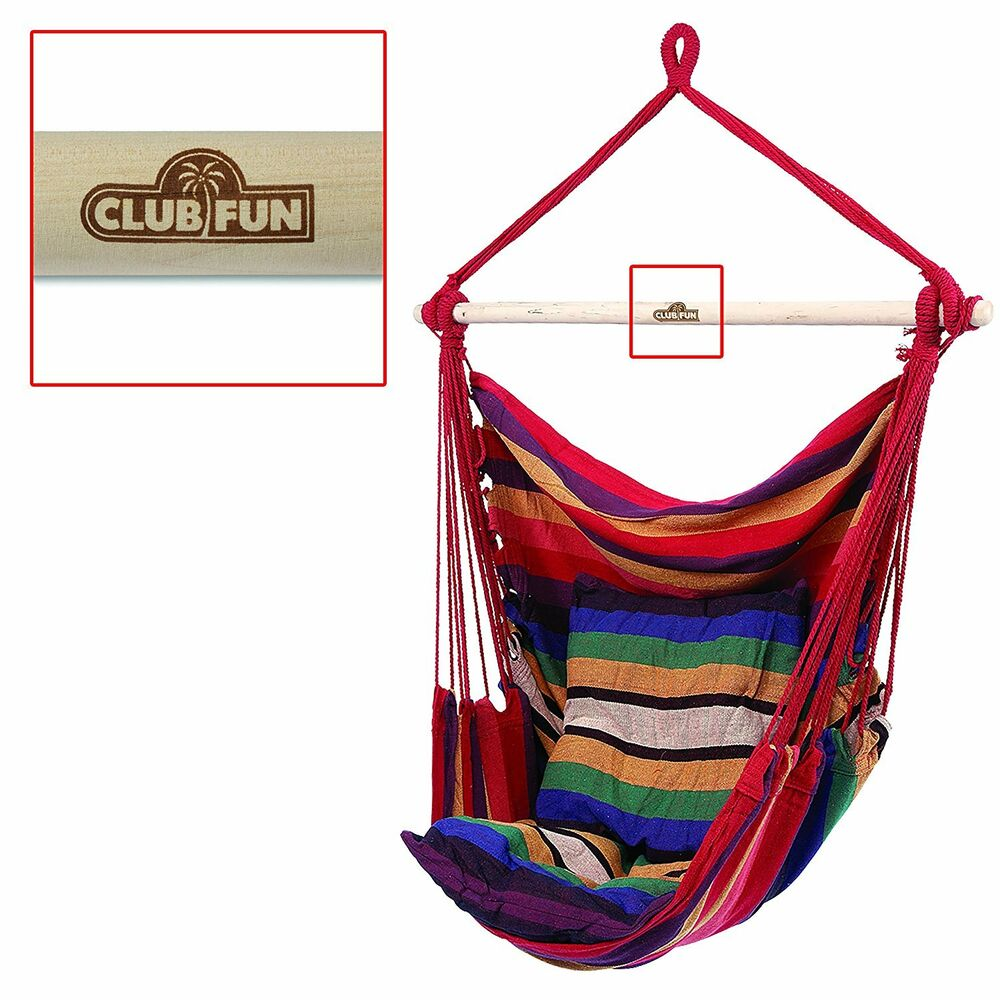 Hammock outdoor furniture patio swing seat garden deck yard hanging chair porch ebay - Choosing a hammock chair for your backyard ...