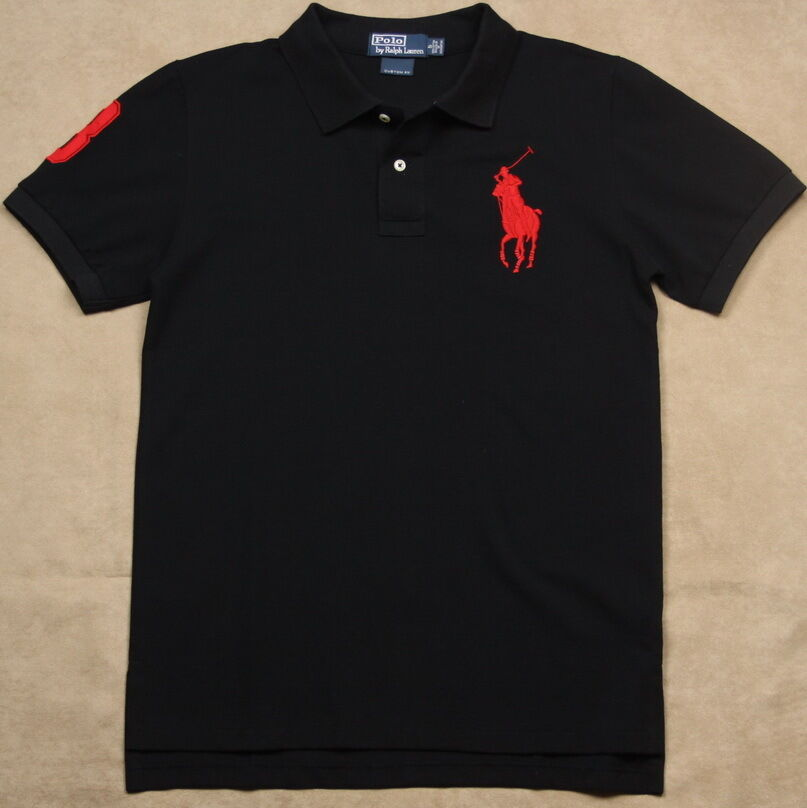 New ralph lauren polo shirt men custom fit big pony no 3 for Big and tall custom polo shirts