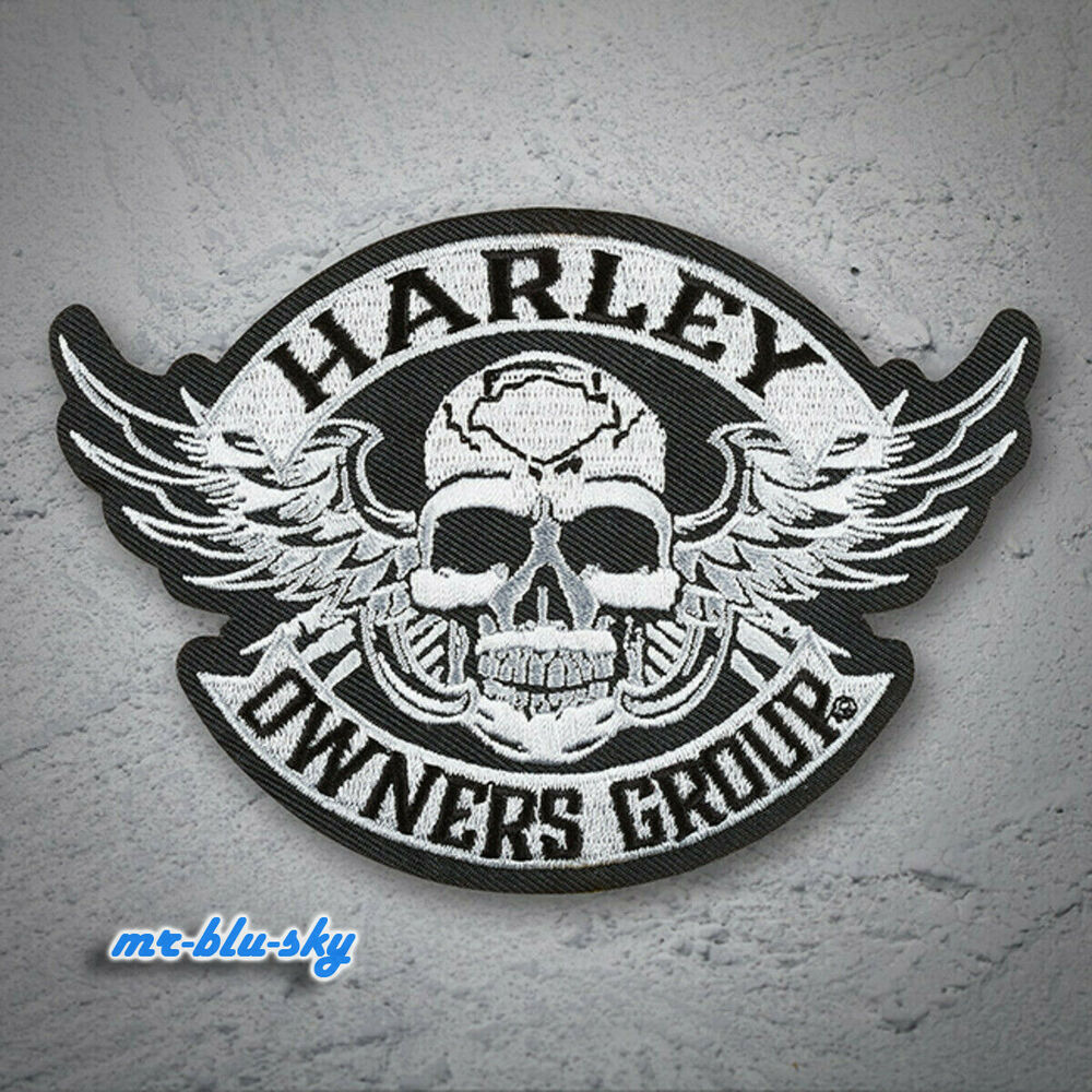 small winged skull patch harley davidson owners group. Black Bedroom Furniture Sets. Home Design Ideas