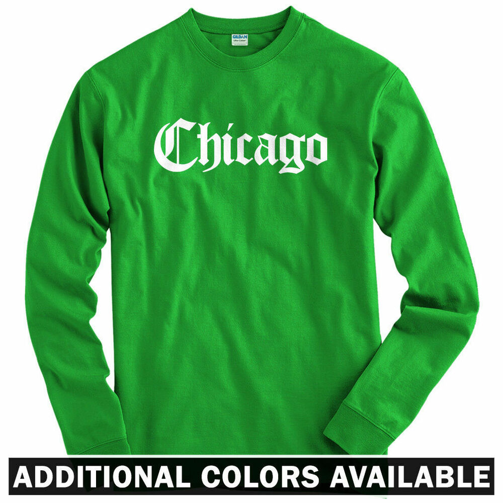 Chicago gothic long sleeve t shirt chi town windy city Chi town t shirts