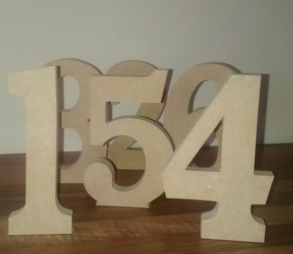 Free standing wooden numbers large 15 cm large wooden for Large freestanding wooden letters