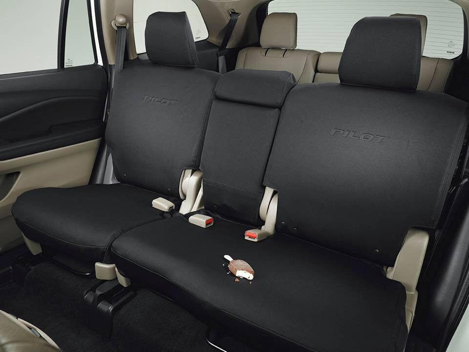 genuine oem honda pilot 2nd second row seat cover ex l touring 16 17 covers ebay. Black Bedroom Furniture Sets. Home Design Ideas