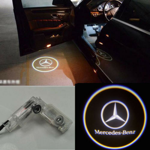 2x led door step courtesy shadow laser light for mercedes for Mercedes benz door lights