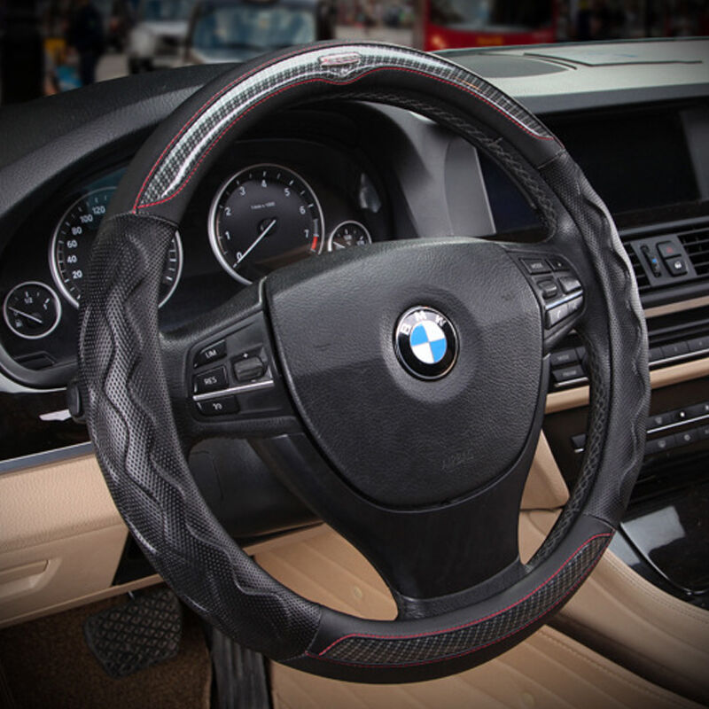 sport black no smell leather automotive car steering wheel cover grip anti slip ebay. Black Bedroom Furniture Sets. Home Design Ideas