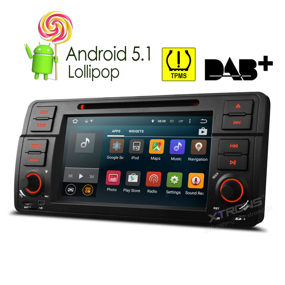 Bmw E46 320 325 7 Quot Android 5 1 Quad Core Car Dvd Cd Player Radio Stereo Gps Wifi Ebay