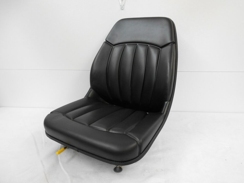 Bobcat Seat Replacement : Black seat for case skytrak lull gradall deere backhoe