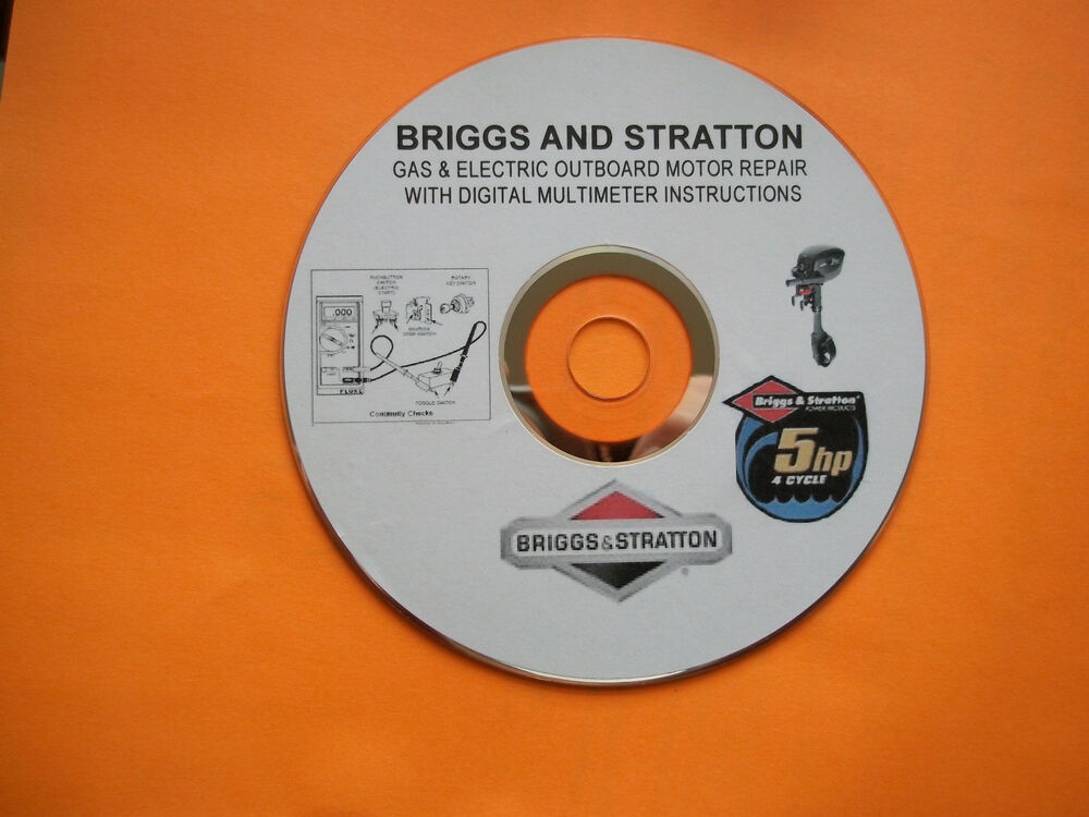 briggs and stratton gas electric outboard motor repair