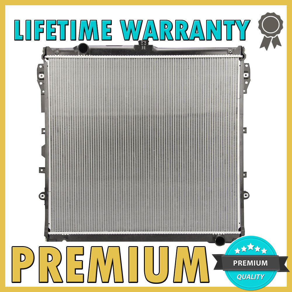 brand new premium radiator 2007 2013 toyota tundra 08 14 sequoia 4 6 5 7 v8 ebay. Black Bedroom Furniture Sets. Home Design Ideas