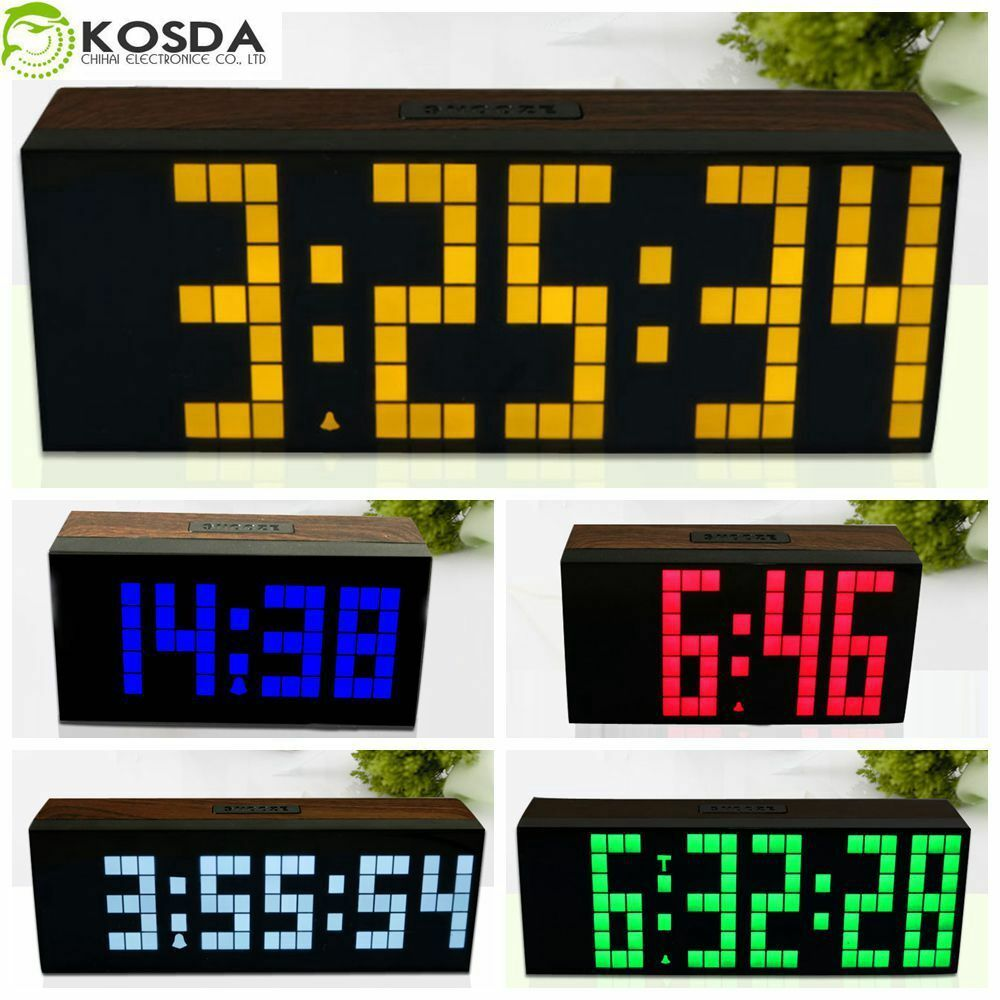 antique wood wall clock digital led alarm clock table desk