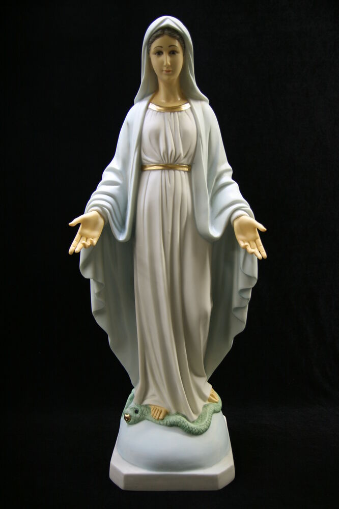 23 5 Our Lady Of Grace Blessed Virgin Mary Mother Catholic Statue Sculpture Ebay