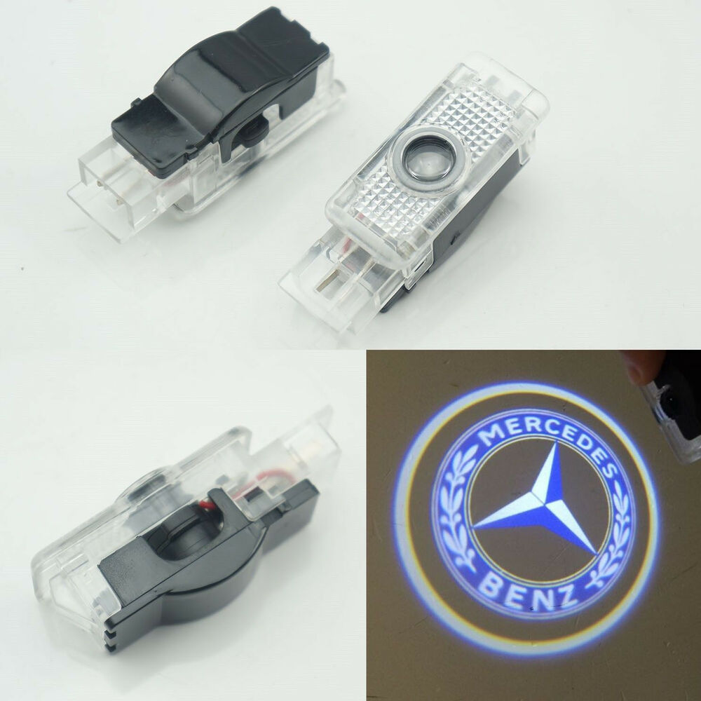 2x ghost led door courtesy laser light for mercedes benz c for Mercedes benz door lights