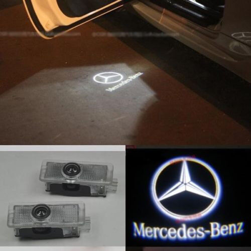 2x ghost led door courtesy laser light mercedes benz 01 07 for Mercedes benz door lights