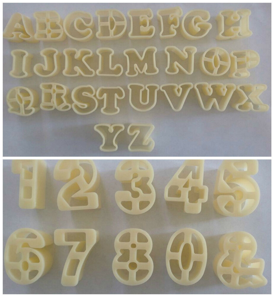 Cake Decorating Letter Cutters