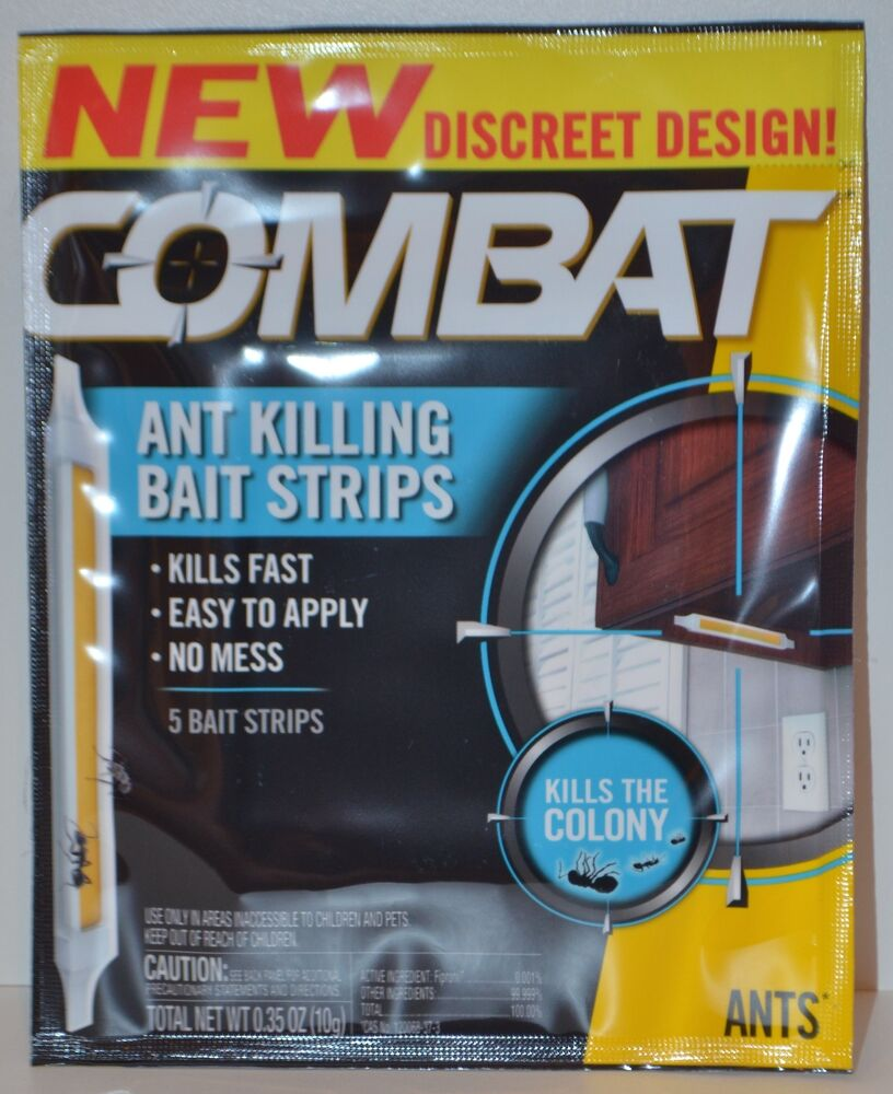 COMBAT ANT KILLING BAIT STRIPS KILLS THE COLONY DISCREET BUG TRAP ...