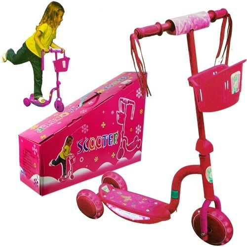 New 3 Wheel Kick Scooter W Led Light Up Wheels For Toddler