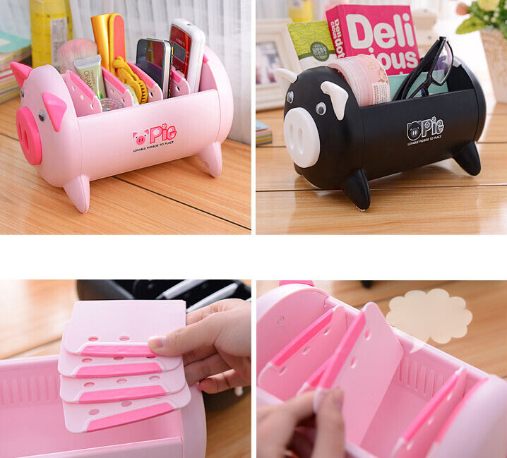 Cute cartoon desk organizer jewelry stationery makeup - Cute desk organizer ...