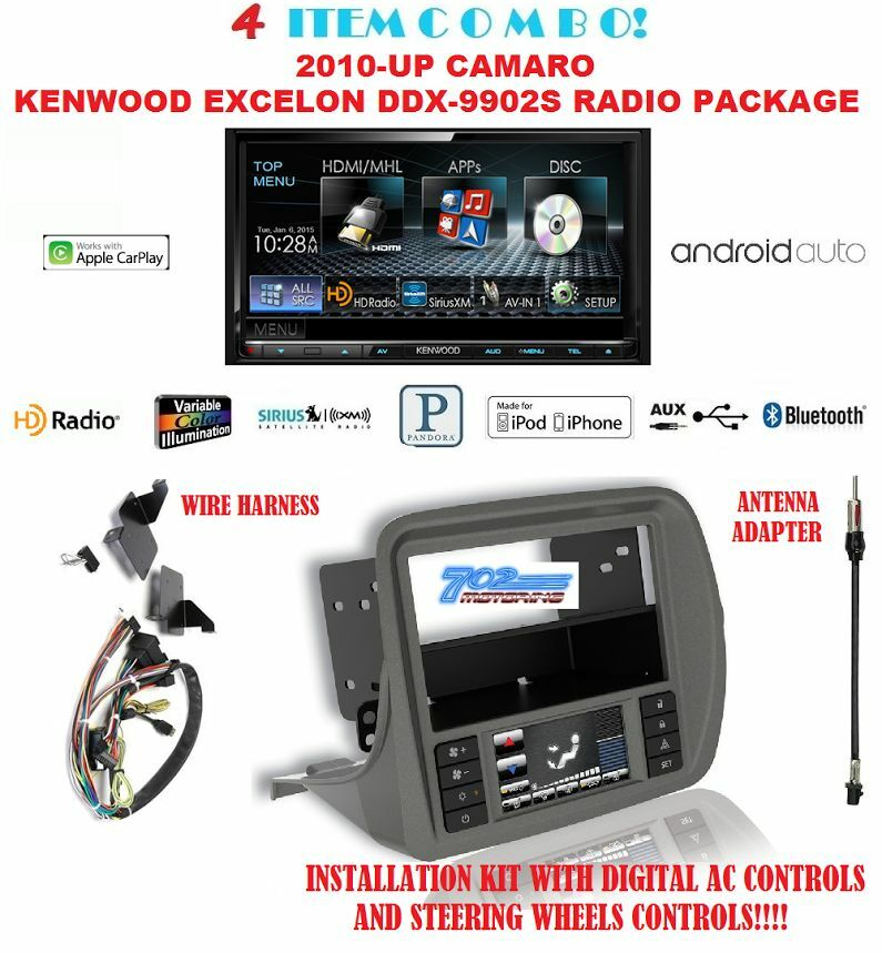 kenwood excelon ddx9902s mirrorlink apple carplay android auto gm5201ab camaro ebay. Black Bedroom Furniture Sets. Home Design Ideas