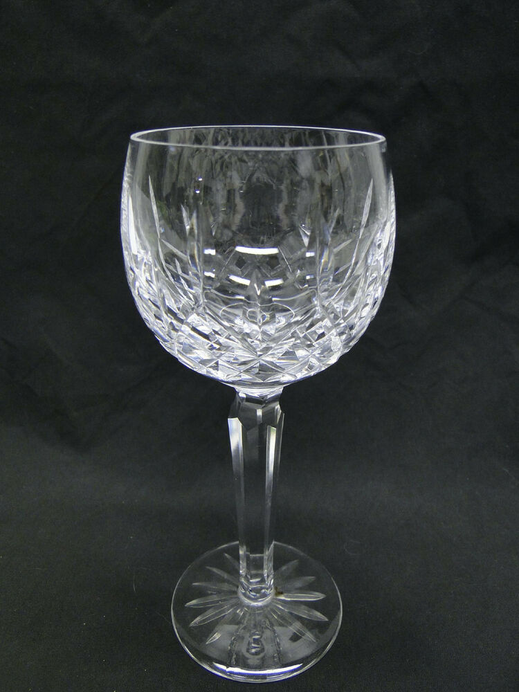 crystal wine glasses waterford cut glass quot lismore quot ballon wine hock glasses 7 3 30002