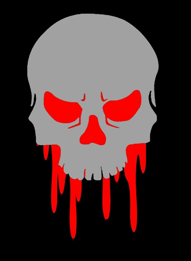 Skull Decal Dripping Skull Sticker Choose Color Amp Size