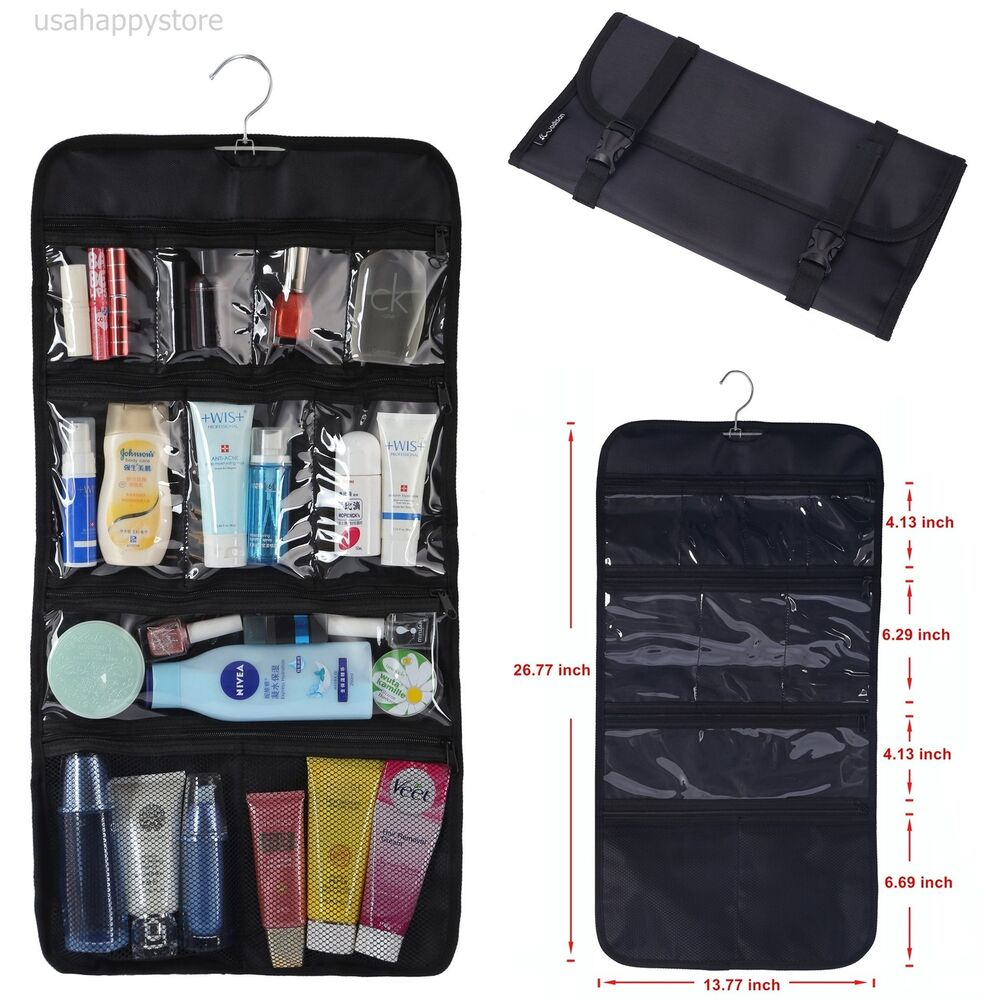 Hanging makeup travel organizer