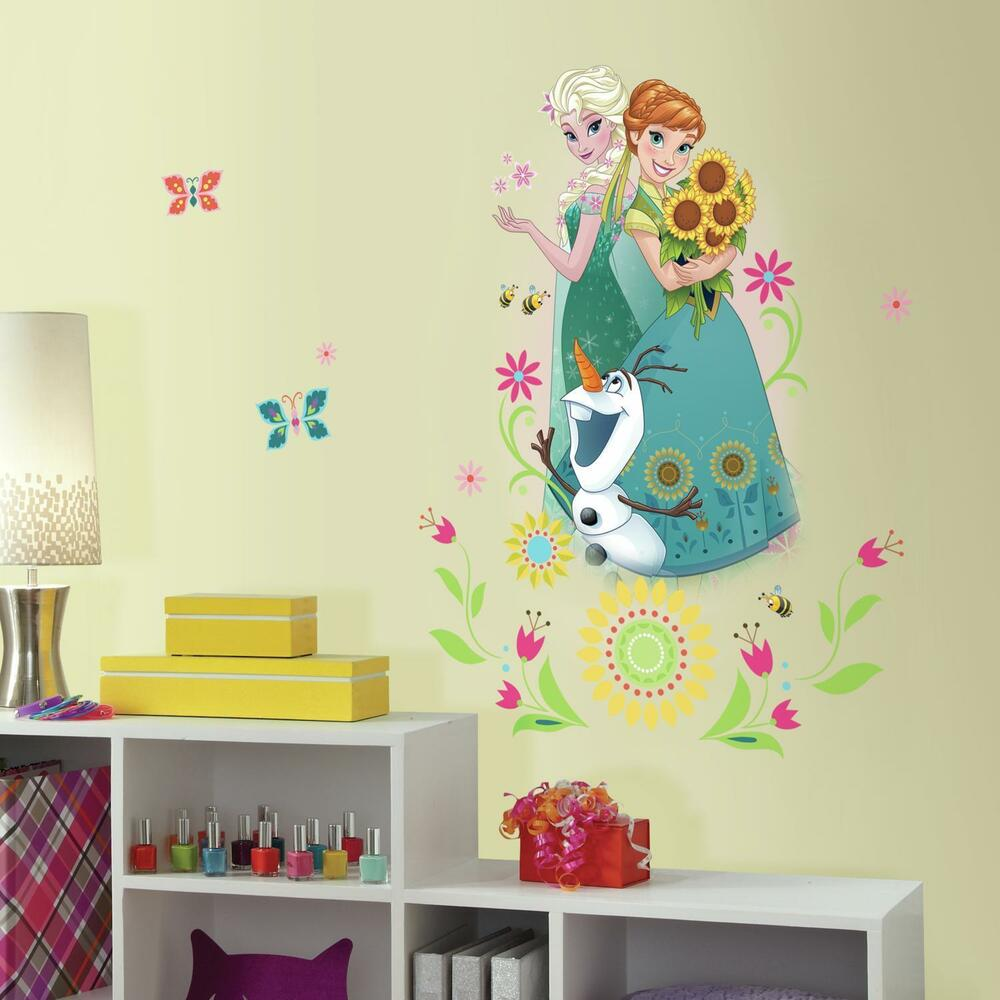 disney frozen fever wall stickers mural 6 decals anna elsa. Black Bedroom Furniture Sets. Home Design Ideas