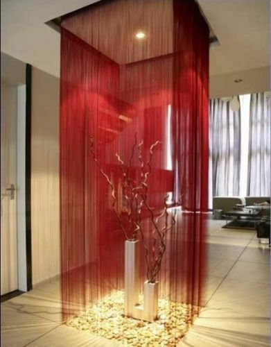 WINE RED String Curtain For Doors Patio Windows Dividers