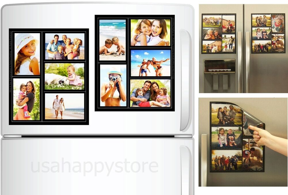 Family Collage Picture Frames Home Decor Magnetic Photo