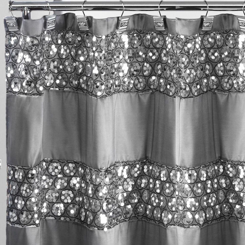 Popular bath sinatra silver 70 x 72 bathroom fabric shower for Popular bathroom decor