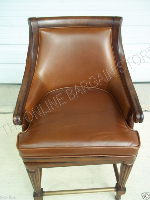 Frontgate Lonsdale Leather Barstool Bar Counter Stool