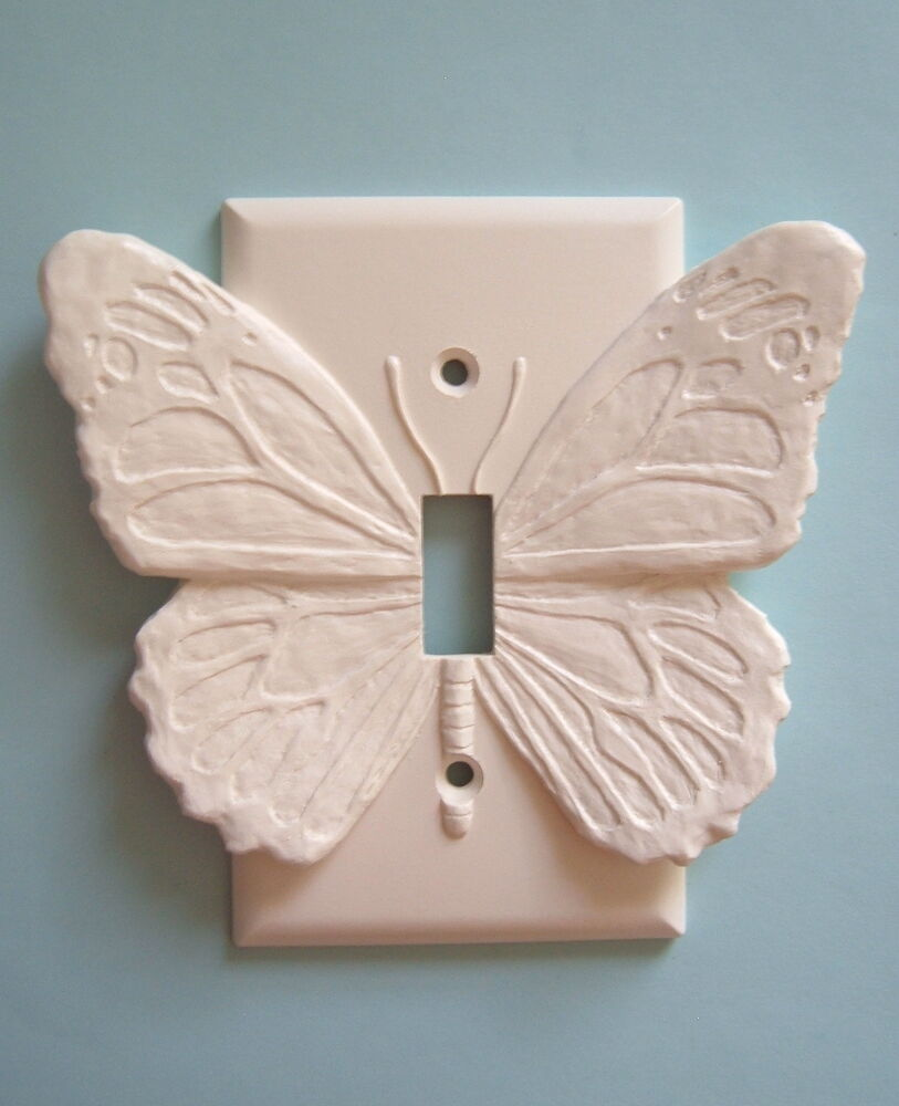 Butterfly light switch plate wall cover toggle switchplate outlet cabin decor ebay - Wall switch plates decorative ...