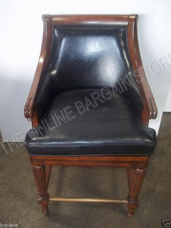 Frontgate Lonsdale Leather Barstool Bar Chair Counter