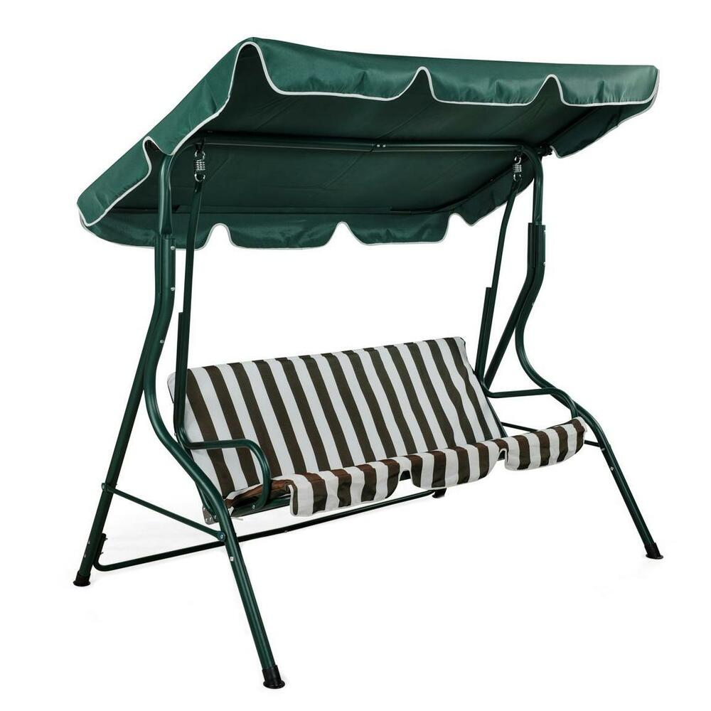 NEW Swinging Garden Hammock Swing Chair Outdoor Bench Seat Seater Lounger Se
