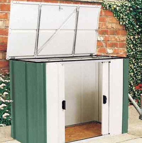 Garden storage shed metal backyard box lawn tools mower for Garden shed for lawn mower