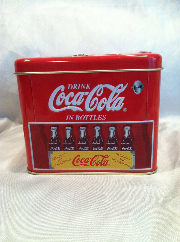 Coca Cola 2000 Tin Container Cooler Drink Coca Cola In