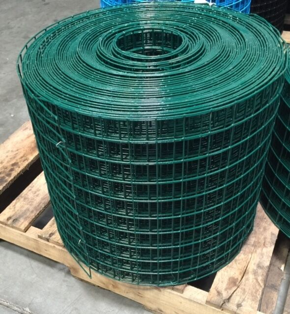 Pvc Coated Wire : Pvc coated welded wire mesh quot g x green