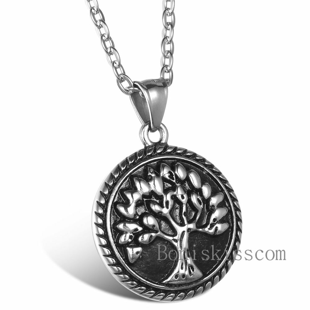 Tree of life christian eternity immortality necklace for Stainless steel jewelry necklace