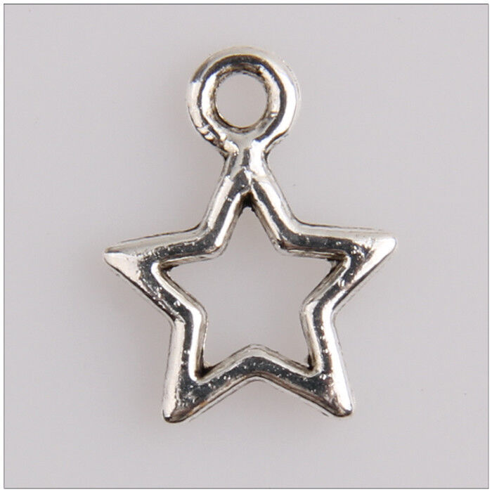 150 small star tibetan silver charms pendants jewelry