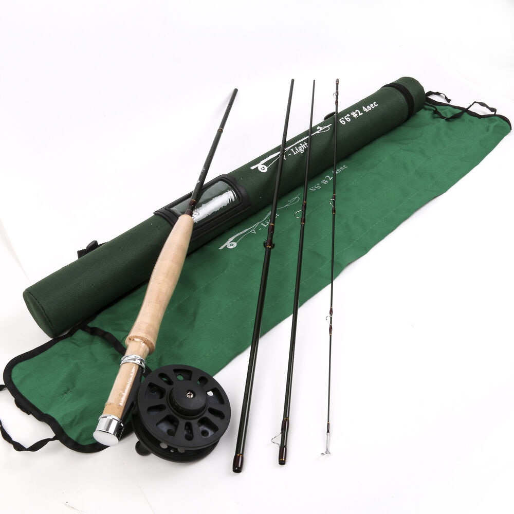 V light fast action fly fishing rod 6 6ft 2weight 4section for Fly fishing with spinning rod