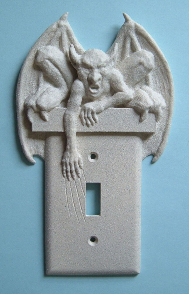 Gargoyle Light Switch Plate Wall Cover Toggle Goth Gothic
