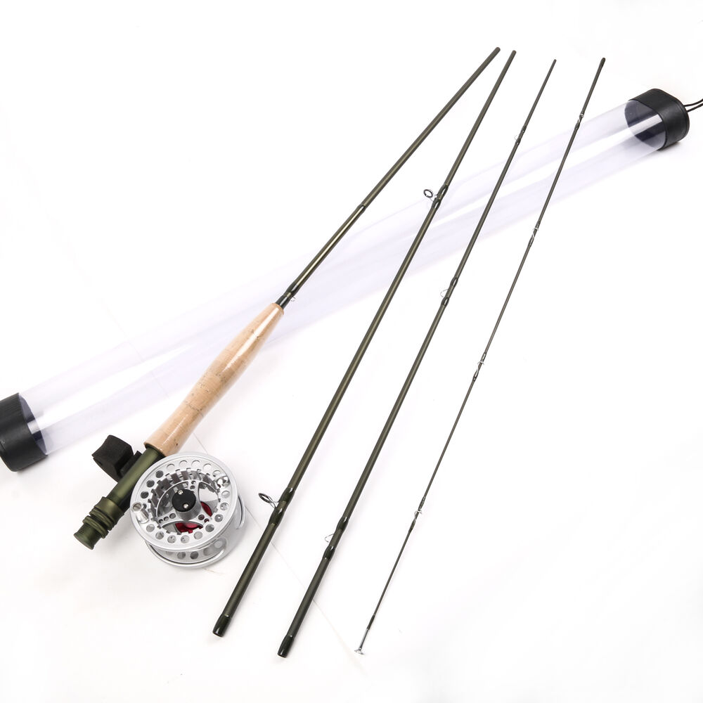 Fly rod 9 ft 5 weight 4 section fast action fly fishing for Trout fishing rod and reel