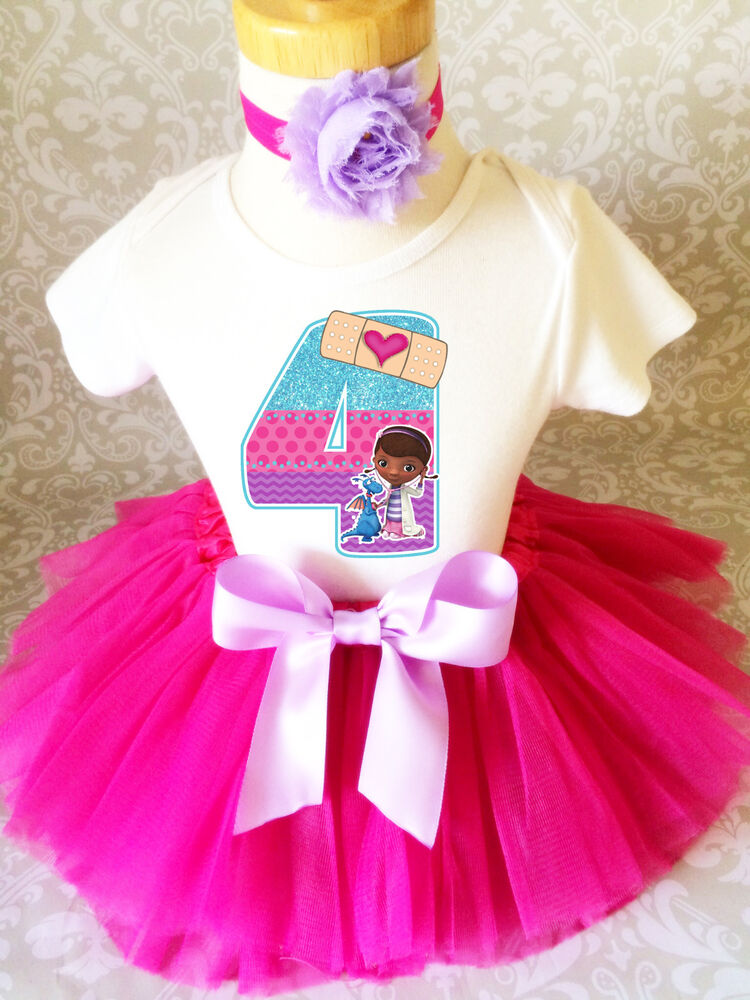 Doc Mcstuffins Animal Doctor Girl 4th Fourth Birthday Tutu