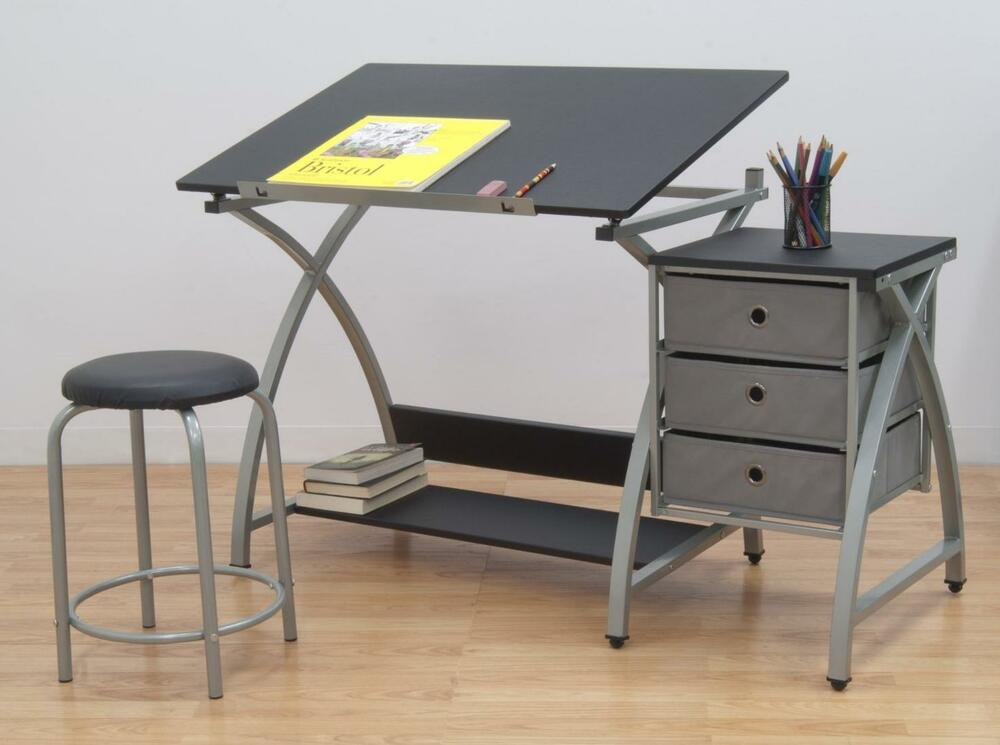 Studio Designs Drawing Table With Stool Station Art