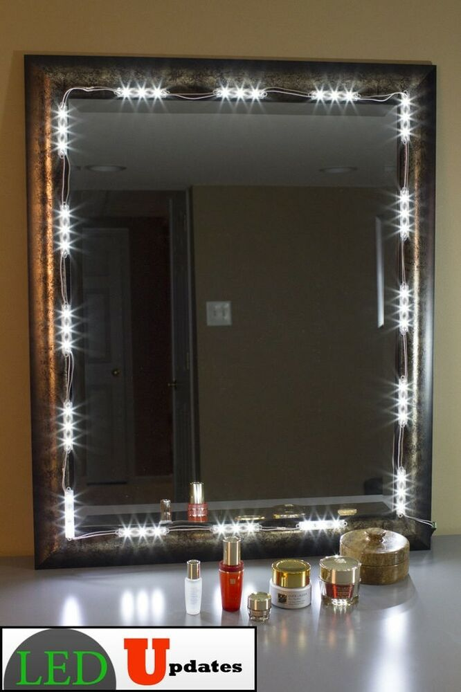 Vanity Light Up Makeup Mirrors : MAKE-UP VANITY MIRROR LED LIGHT 10FT FOR COSMETIC MIRROR LIGHTED WHITE UL POWER eBay