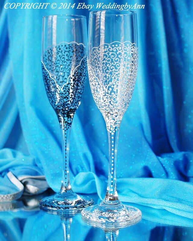 personalized wedding champagne glasses handmade toasting flutes set