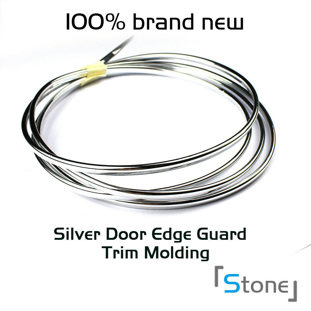 Flexible chrome silver door edge guard trim molding roll for Door edge trim